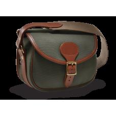 Croots Rosedale Canvas bavlněná kožená nábojová taška na 100 nábojů - Loden Green + Tan Leather