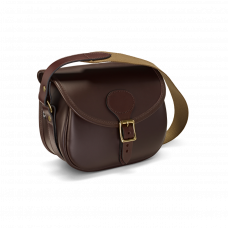 Croots Byland kožená nábojová taška na 100 nábojů - Oxblood